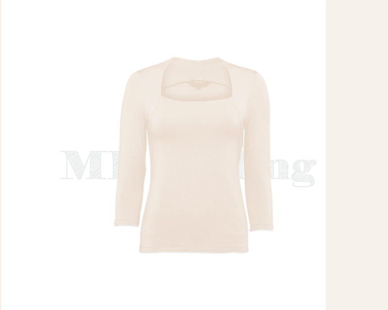 Slippely shirt, driekwart mouw, 4741, ecru