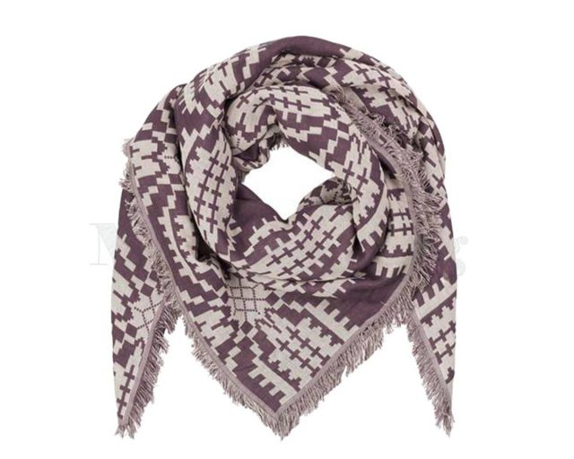 BeckSondergaard-shawl-katoen-Tulips-Plum-perfect