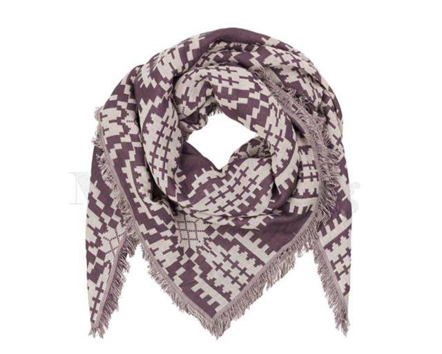 BeckSondergaard-shawl-katoen-Tulips-Plum-perfect
