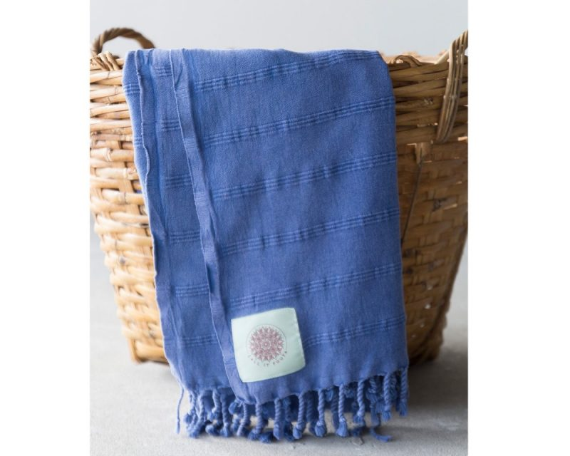 Call it Fouta hamamdoek Stone washed denim blue