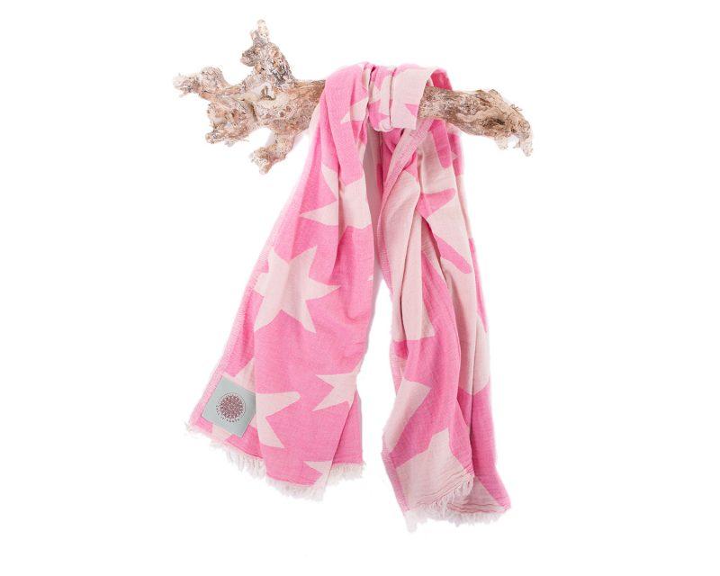 Call it Fouta hamamdoek Stars Candy pink