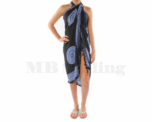 Call-it-Fouta-sarong-Black-blue