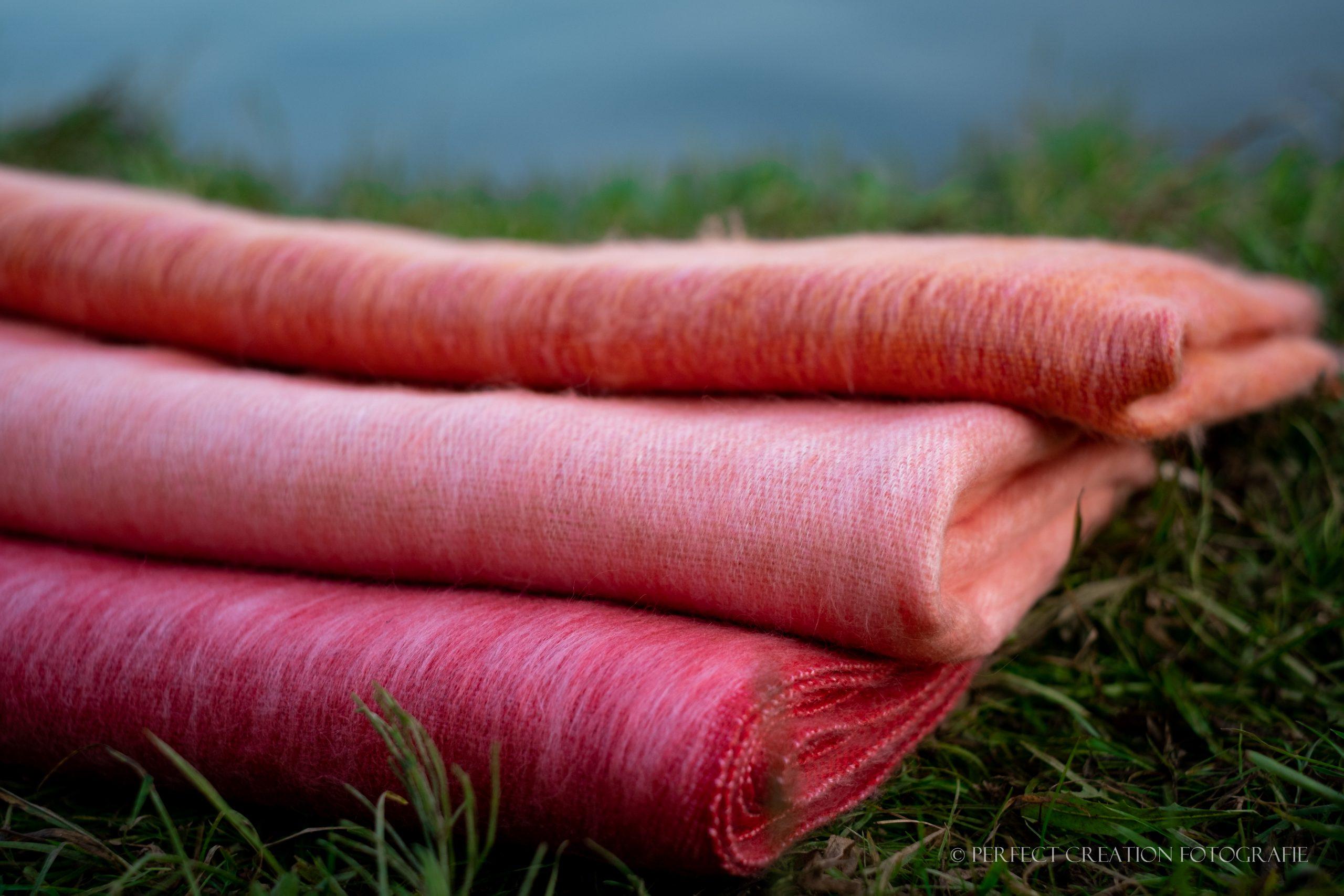 Nepal sjaals in zalm tinten