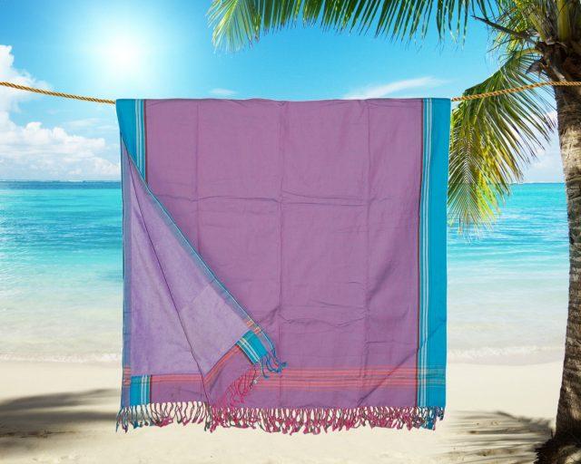 Pure Kenya Kikoy strandlaken Kakamega Purple Pink