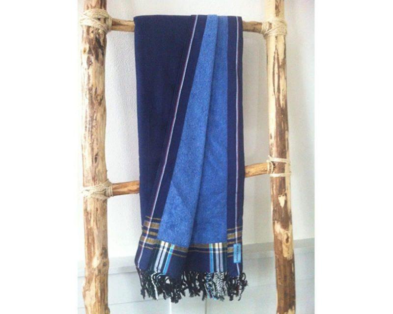 Pure-Kenya-Kikoy-strandlaken-Kina-dark-blue