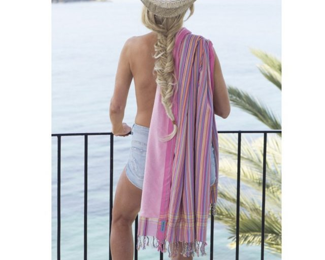 Pure-Kenya-Kikoy-strandlaken-Sweet-Pink-stripes