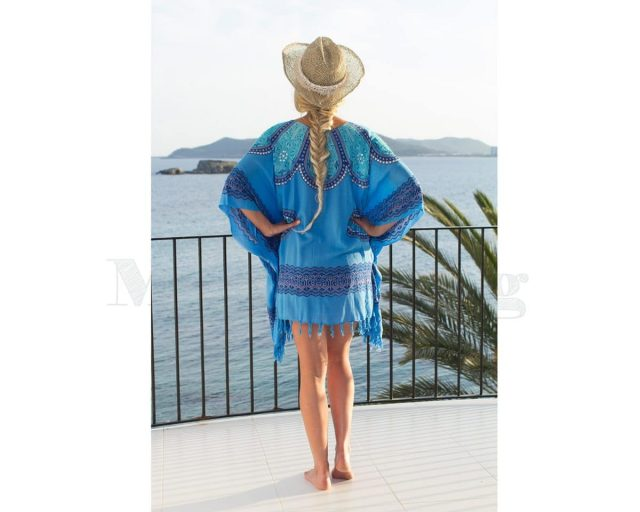 Pure Kenya Sarong-dress-Blue-Blue