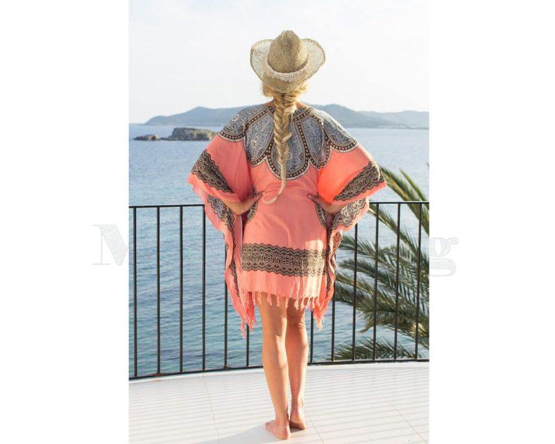 Pure Kenya Sarong-dress-Pink-Blue