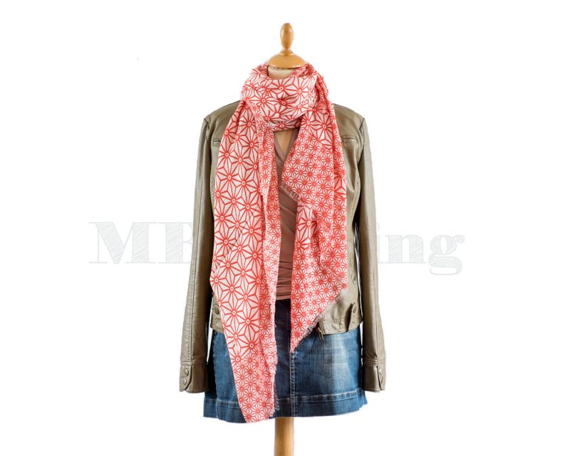 Shawl, Moment by Moment, modal viscose, Elburg, red
