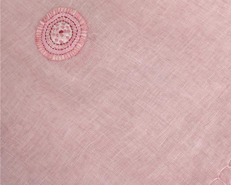 Shawl-Silkroute,-Linnen,-AE-180-Roze