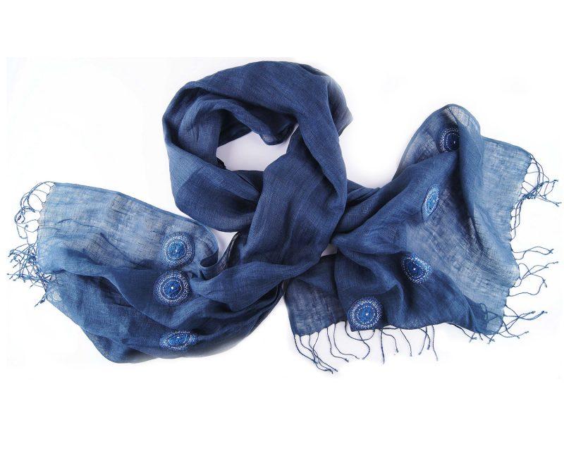 Shawl-Silkroute-Linnen-AE180-dark-blue