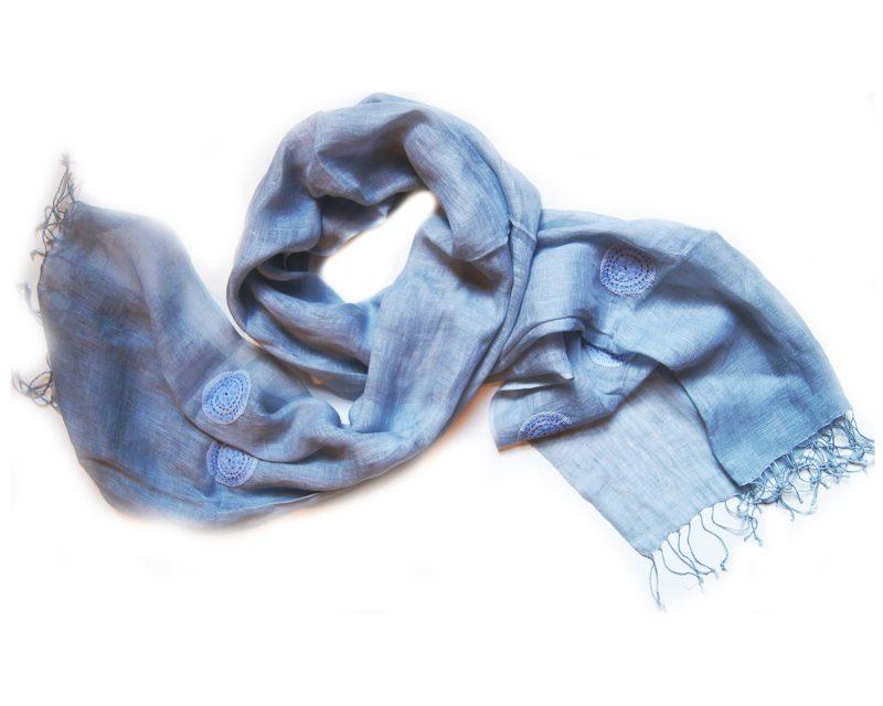 Shawl-Silkroute-Linnen-AE180-darkt-blue