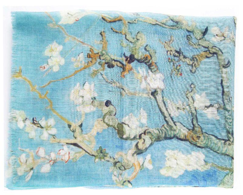 Shawl Silkroute wol Almond Blossum
