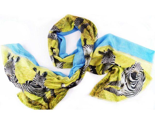 Shawl-katoen-Silkroute-Zebra