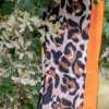Shawl viscose dierenprint oranje
