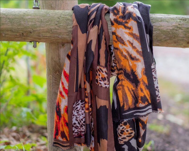 Shawl-zebra-panterdessin-bruin