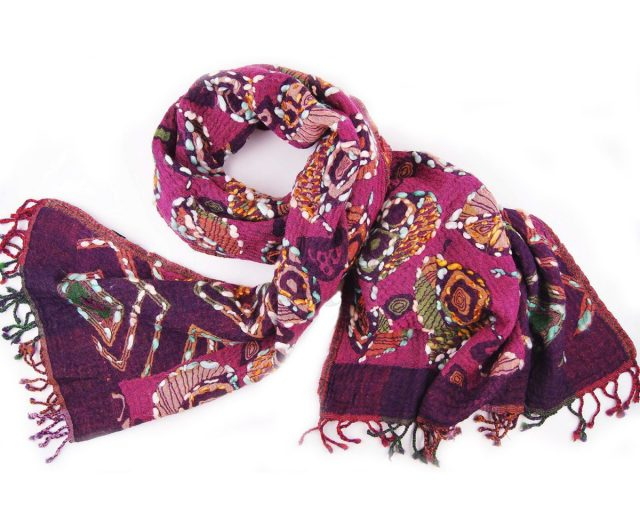 Silkroute shawl wol 6111