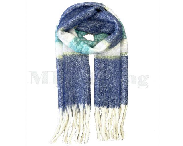 Sjaal Cashmere Viscose Winter - Blauw
