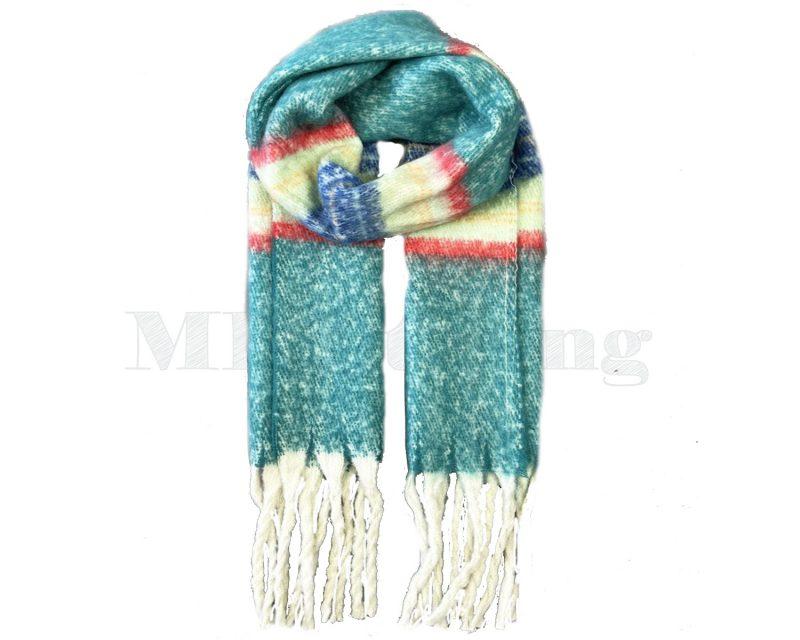 Sjaal Cashmere Viscose Winter - Petrol