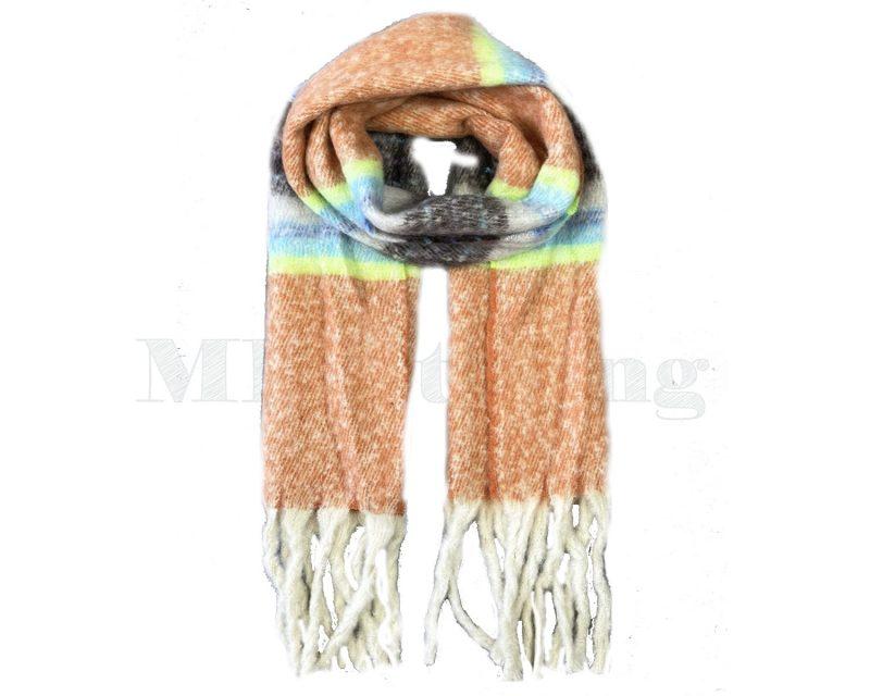 Sjaal Cashmere Viscose Winter - Roestbruin