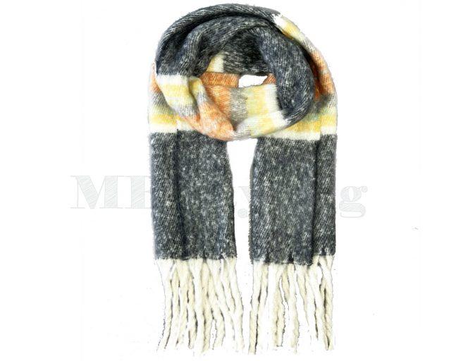 Sjaal Cashmere Viscose Winter - Zwart