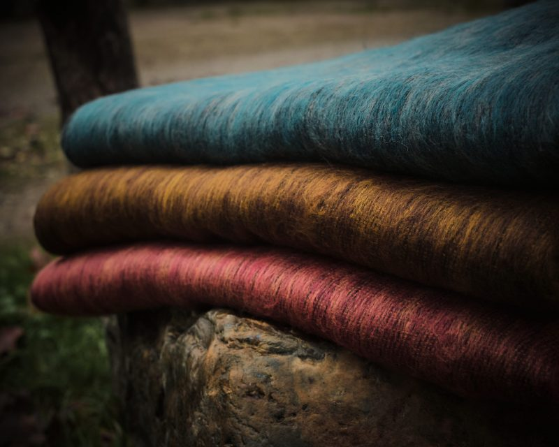 Sjaal Nepal - Aqua vergrijsd