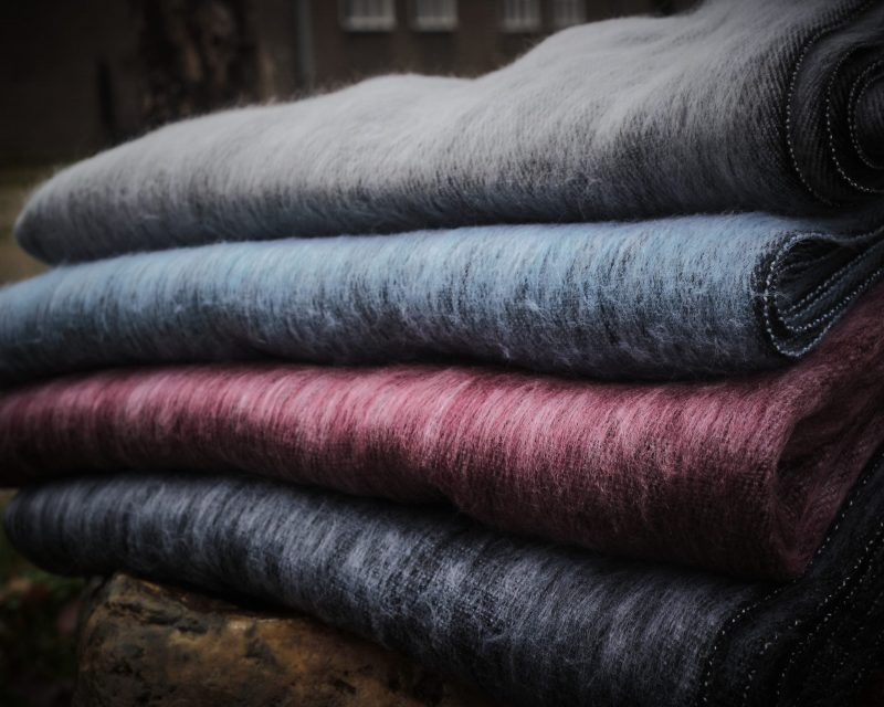 Sjaal Nepal Blauw Grijs