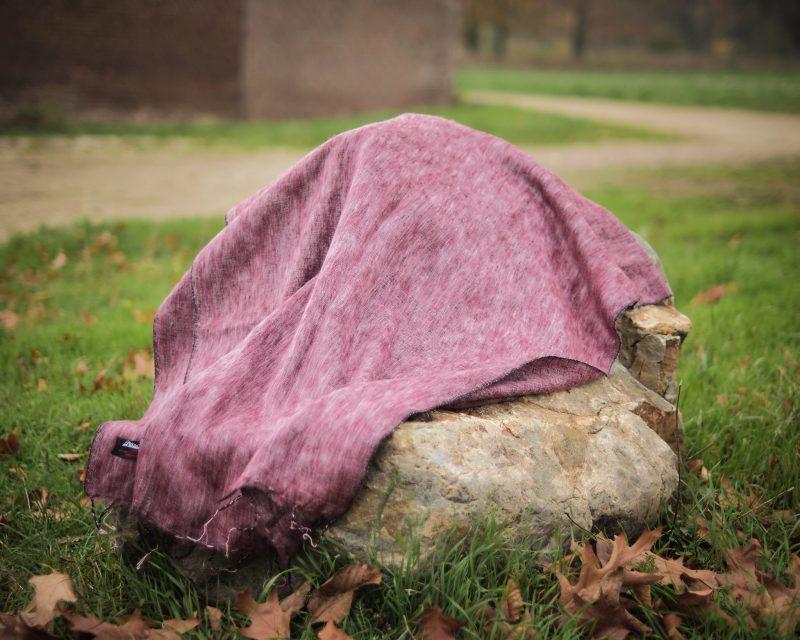 Sjaal Nepal Effen Shawl - Aubergine
