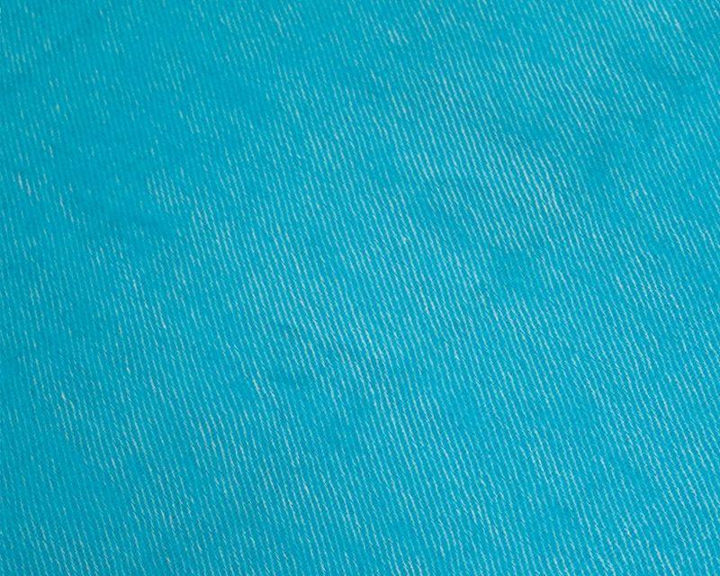 Sjaal-Nepal-Effen-Shawl-Azuurblauw