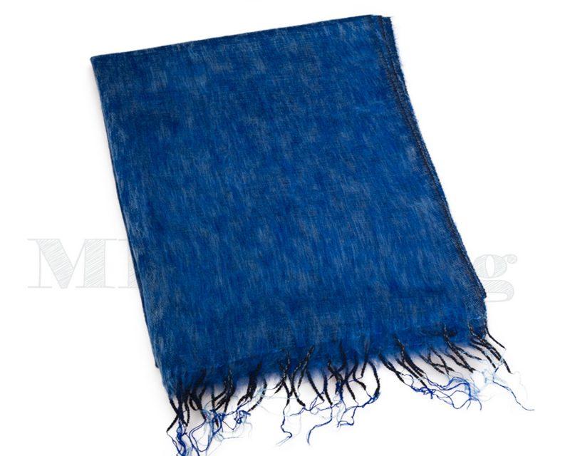 Sjaal-Nepal-Effen-Shawl-Koningsblauw