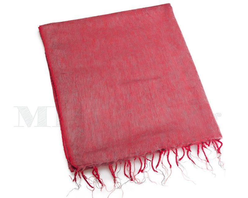 Sjaal-Nepal-Effen-Shawl--Koraal-vergrijsd