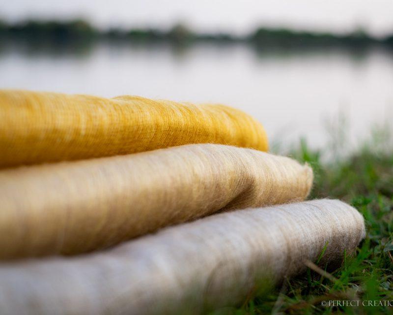 Sjaal-Nepal-Effen-Shawl-Licht-geel