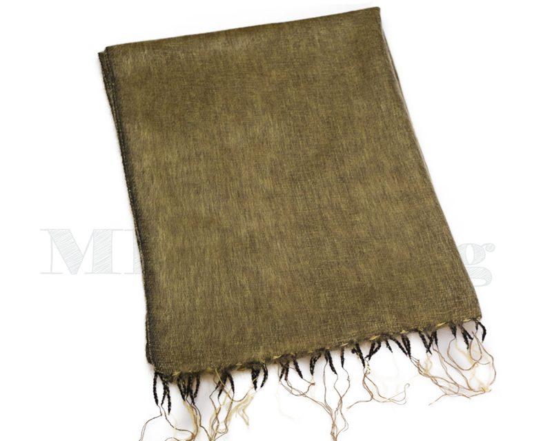 Sjaal-Nepal-Effen-Shawl-Mosgroen