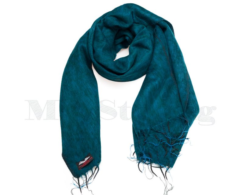 Sjaal-Nepal-Effen-Shawl-Smaragd