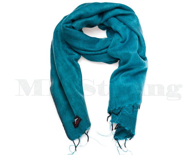Sjaal-Nepal-Effen-Shawl-Turquoise