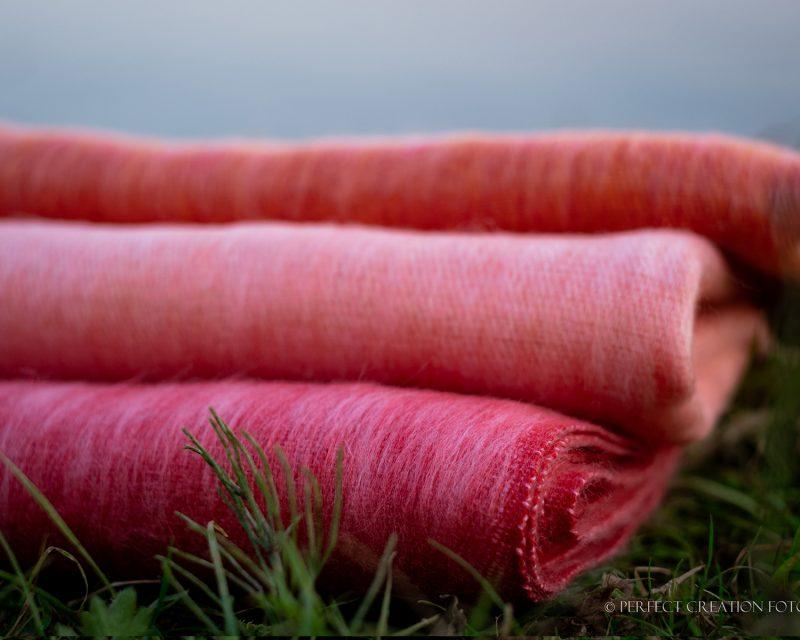 Sjaal-Nepal-Effen-Shawl-Zalm-roze