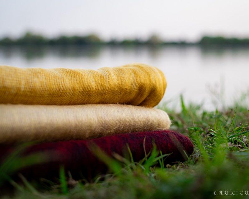 Sjaal-Nepal-Effen-Shawl-Zonnebloem-geel