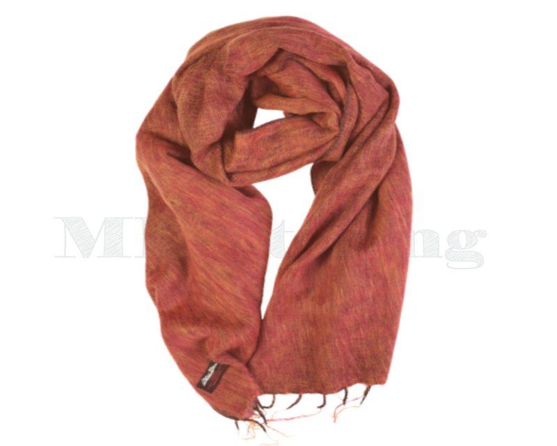 Sjaal-Yakwol-Nepal-Effen sjaal - Roest