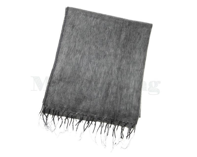 Sjaal Nepal Effen Shawl - Muisgrijs