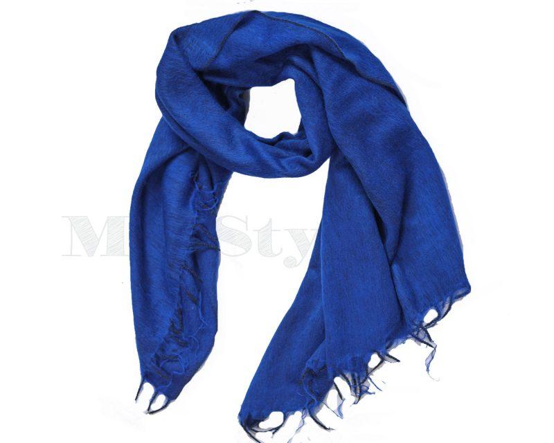 Sjaal-Yakwol-Effen-Shawl-Koningsblauw