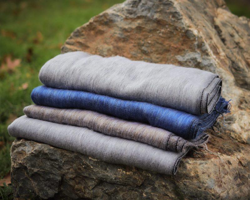 Sjaal-Yakwol-Effen-Shawl-Jeansblauw