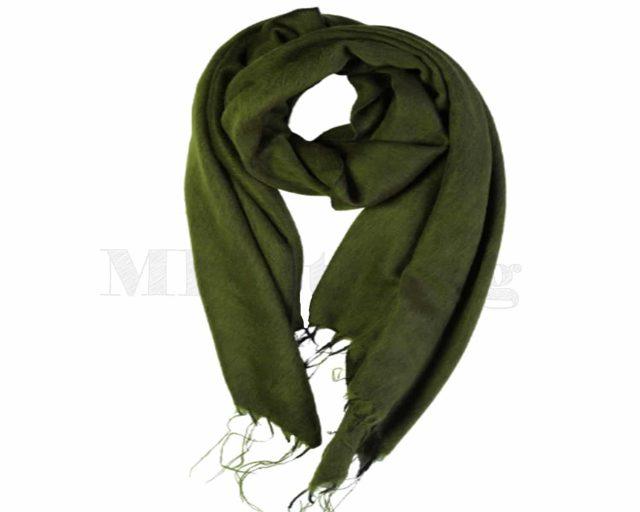 Sjaal-Yakwol-Nepel-Olijf groen