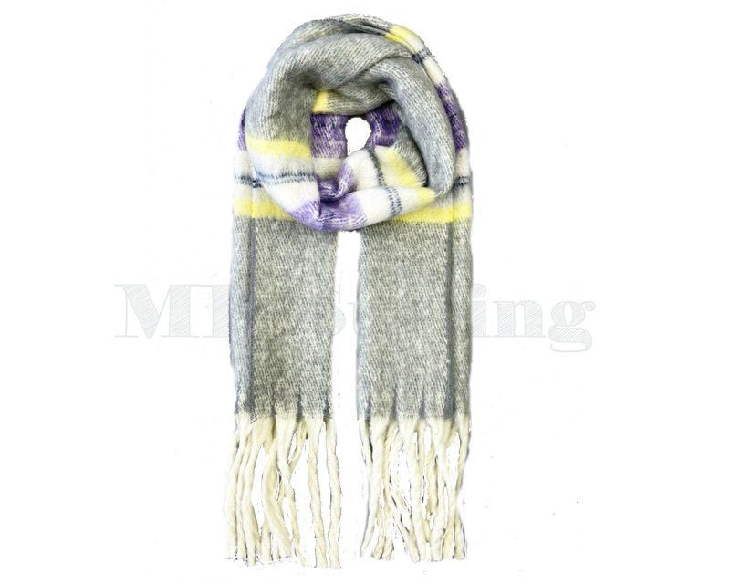 Sjaal Cashmere Viscose Winter - Grijs
