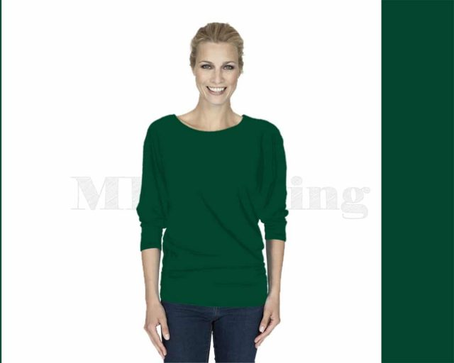 Slippely-shirt-driekwart-mouw-viscose-17063-ultramarin-green