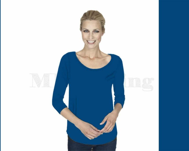 Slippely-shirt-driekwart-mouw-viscose-17067-strong-blue