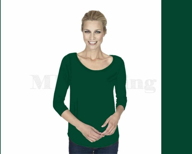 Slippely-shirt-driekwart-mouw-viscose-17067-ultramarin-green