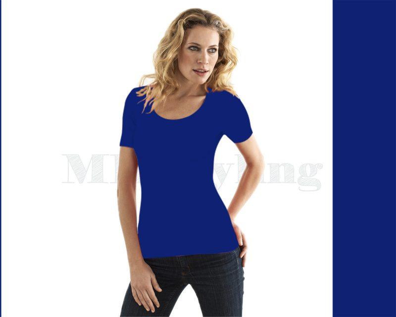 Slippely shirt korte mouw viscose 17732-estate blue