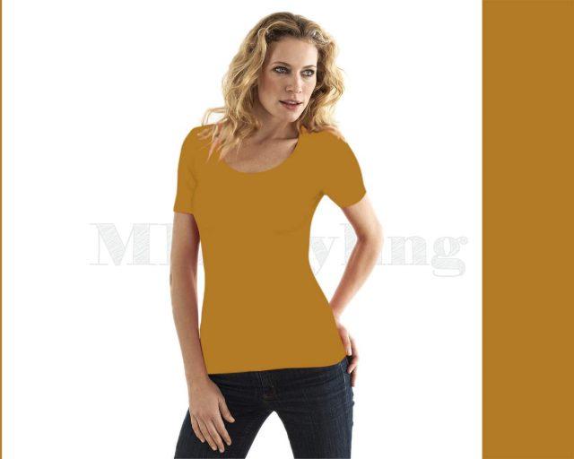 Slippely shirt korte mouw viscose 17732 Golden Yellow (geel)