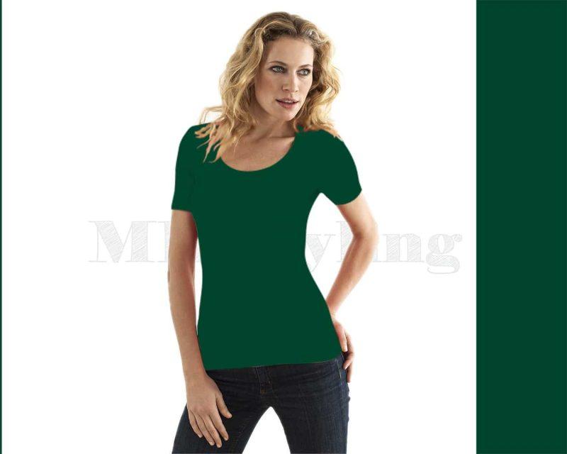 Slippely shirt korte mouw viscose 17732 Ultramarin Green (groen)
