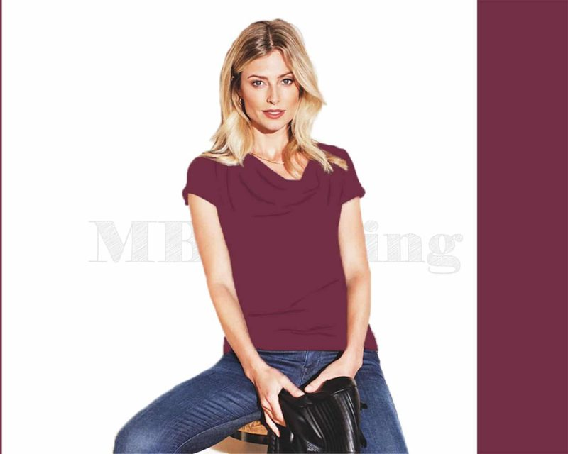 Slippely shirt, korte mouw, viscose, SL 02663, Violet